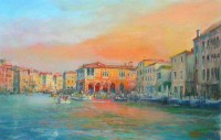 """Fish Market, Venice"", giclee lim ed, 45.5 x 29cm, £150"