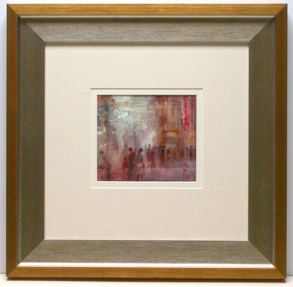 this oil by frank burke is only 16cm wide by 14cm high it looks much more impressive framed in this way than it would have done close framed